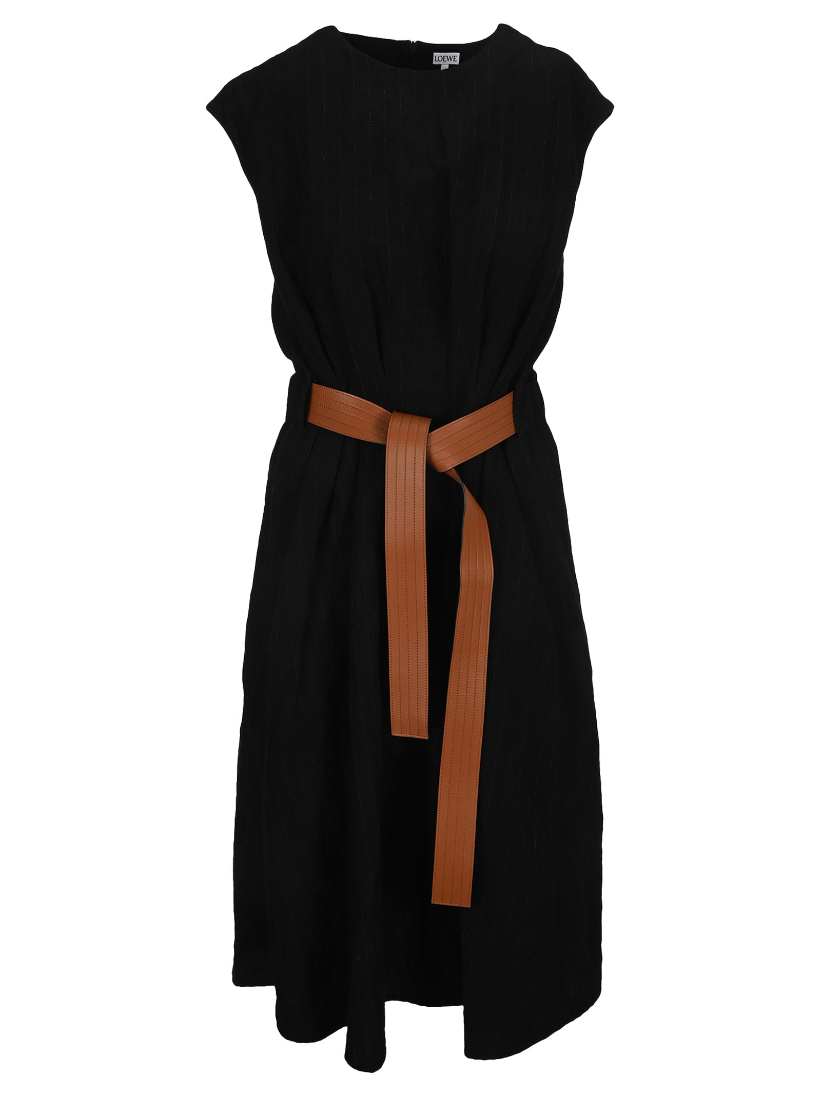 Loewe BELTED MIDI DRESS IN WOOL