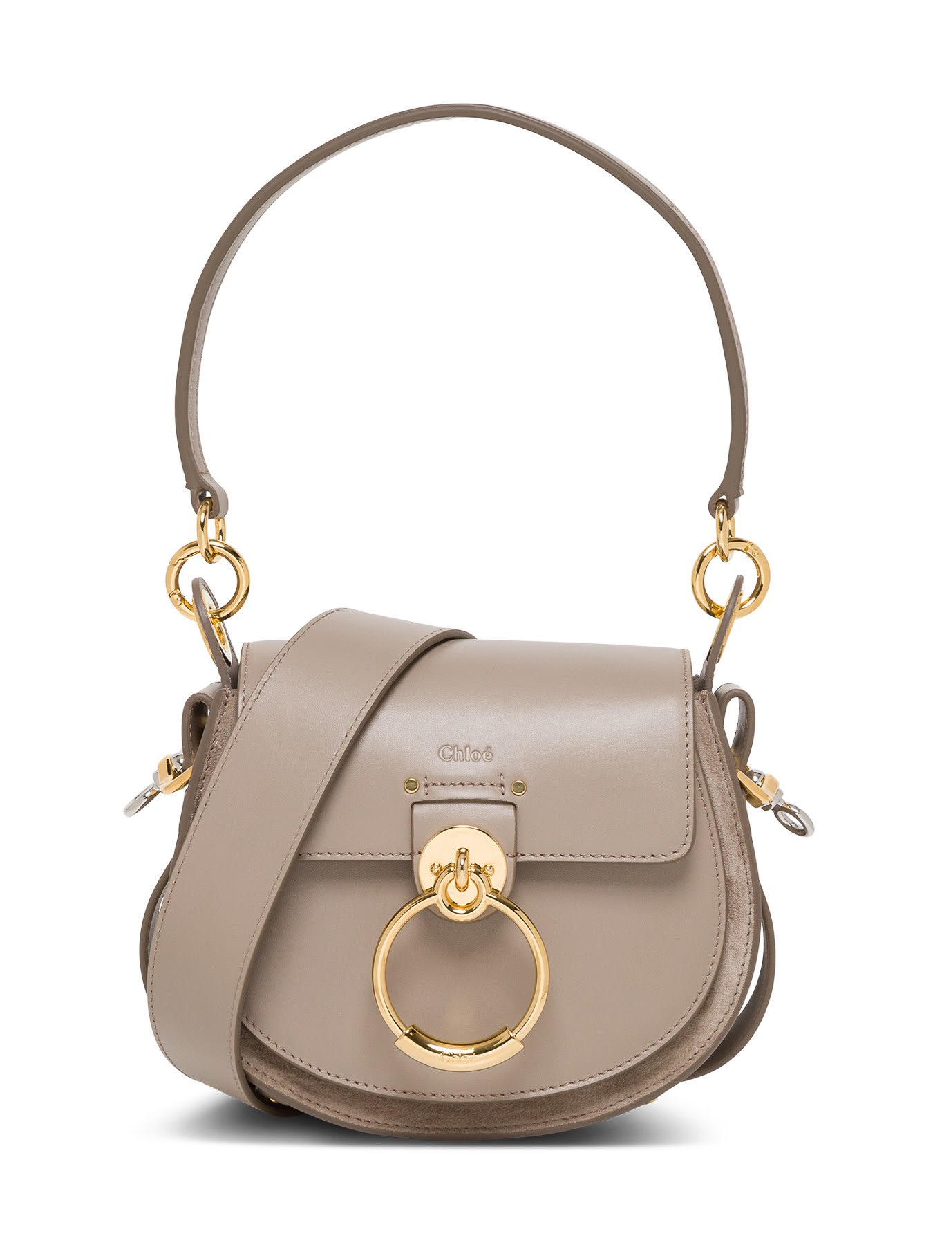 Chloé SMALL TESS SHOULDER BAG IN LEATHER