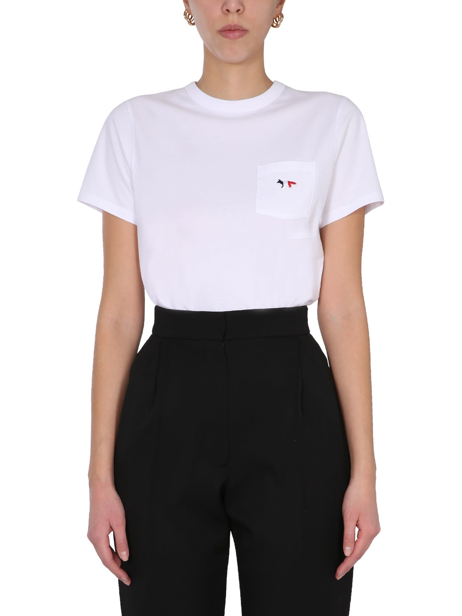 Maison Kitsuné TRICOLOUR FOX PATCH T-SHIRT