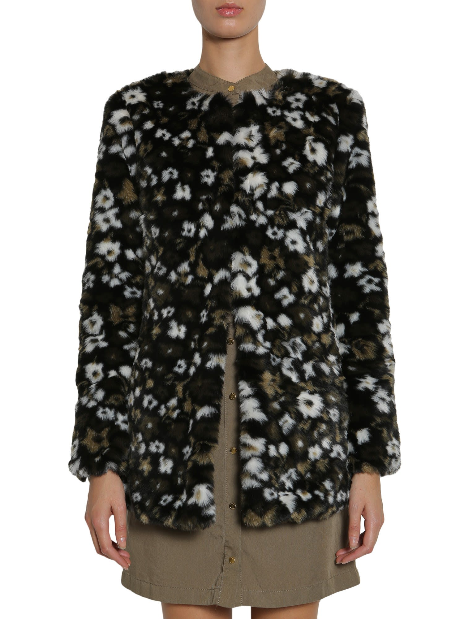 MICHAEL Michael Kors Floral Printed Faux-fur
