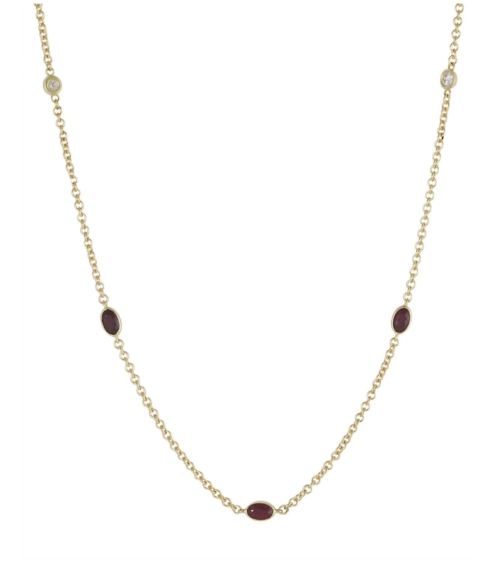 Lo Spazio Ruby and Diamond Necklace