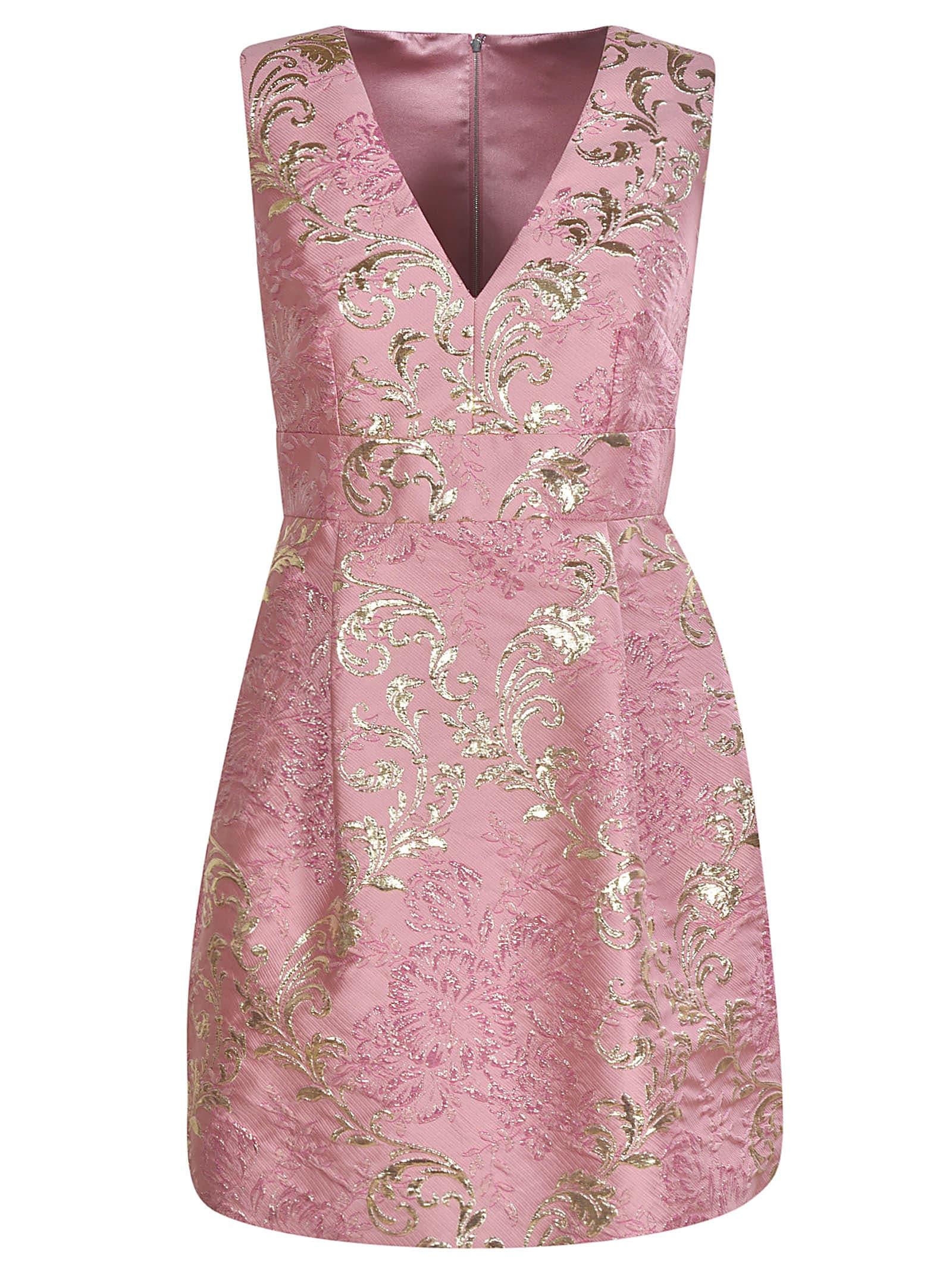 Buy Dolce & Gabbana V-neck Sleeveless Dress online, shop Dolce & Gabbana with free shipping