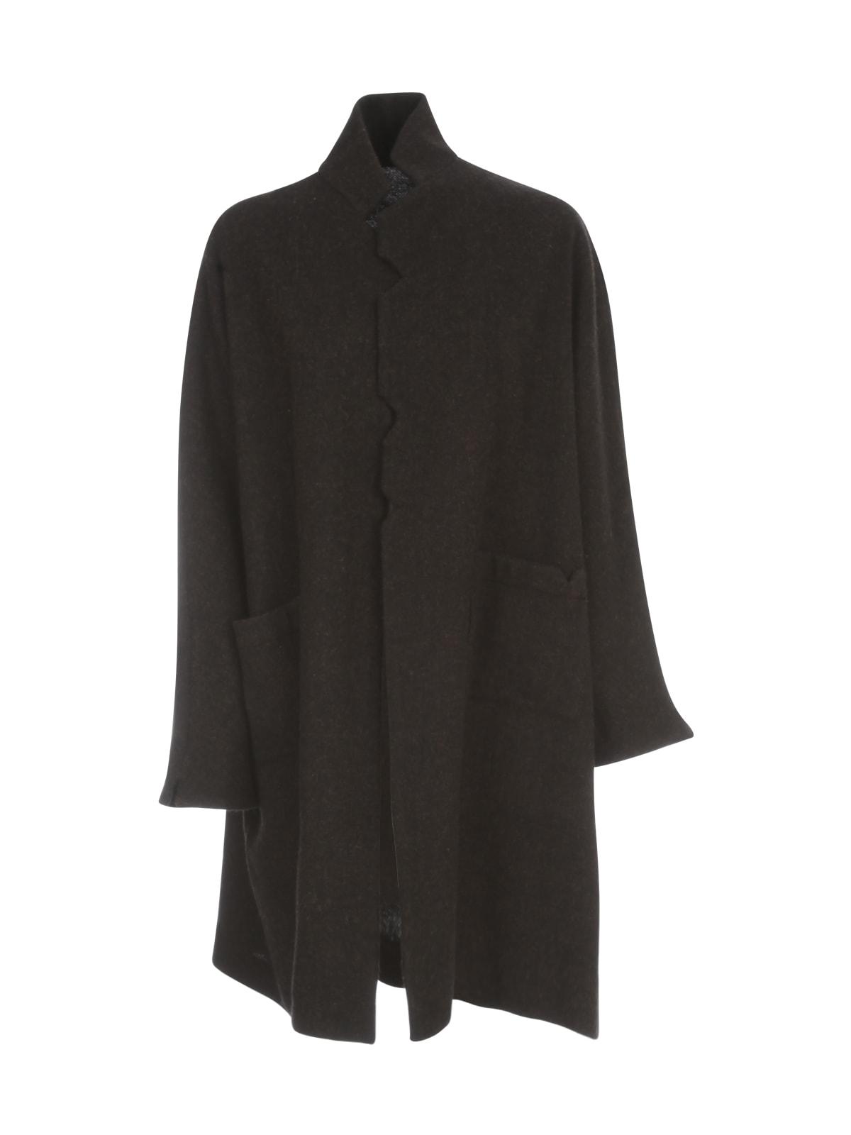 Daniela Gregis Peonia Cicoria 100% Wool High Neck Jacket