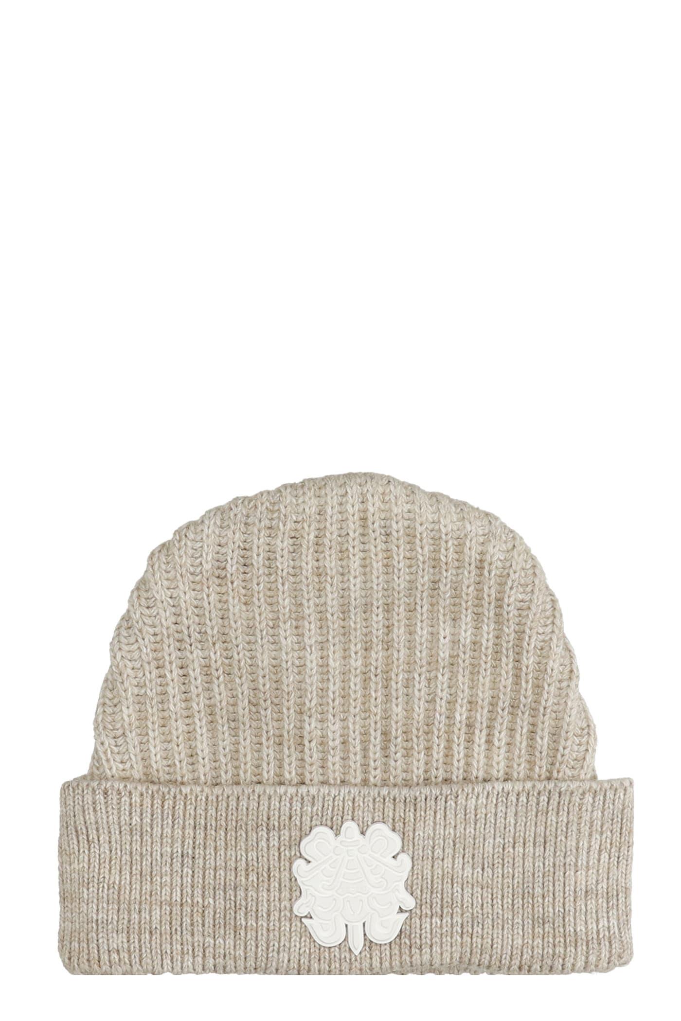 Hats In Beige Wool
