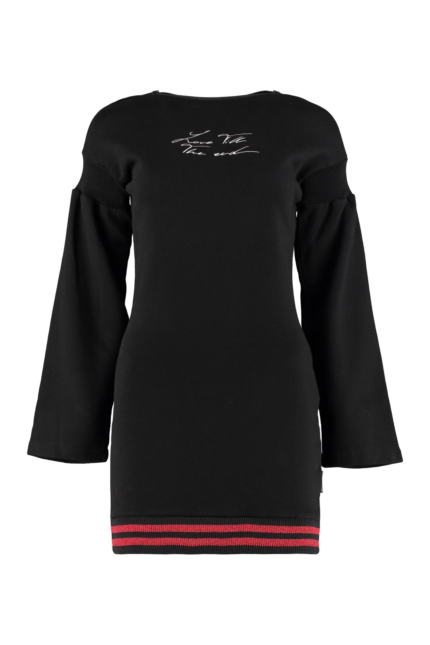 Buy Marcelo Burlon Love T.t.e. Cotton Sweatdress online, shop Marcelo Burlon with free shipping
