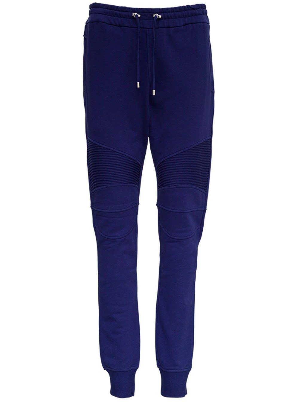Balmain Blue Jersey Pants
