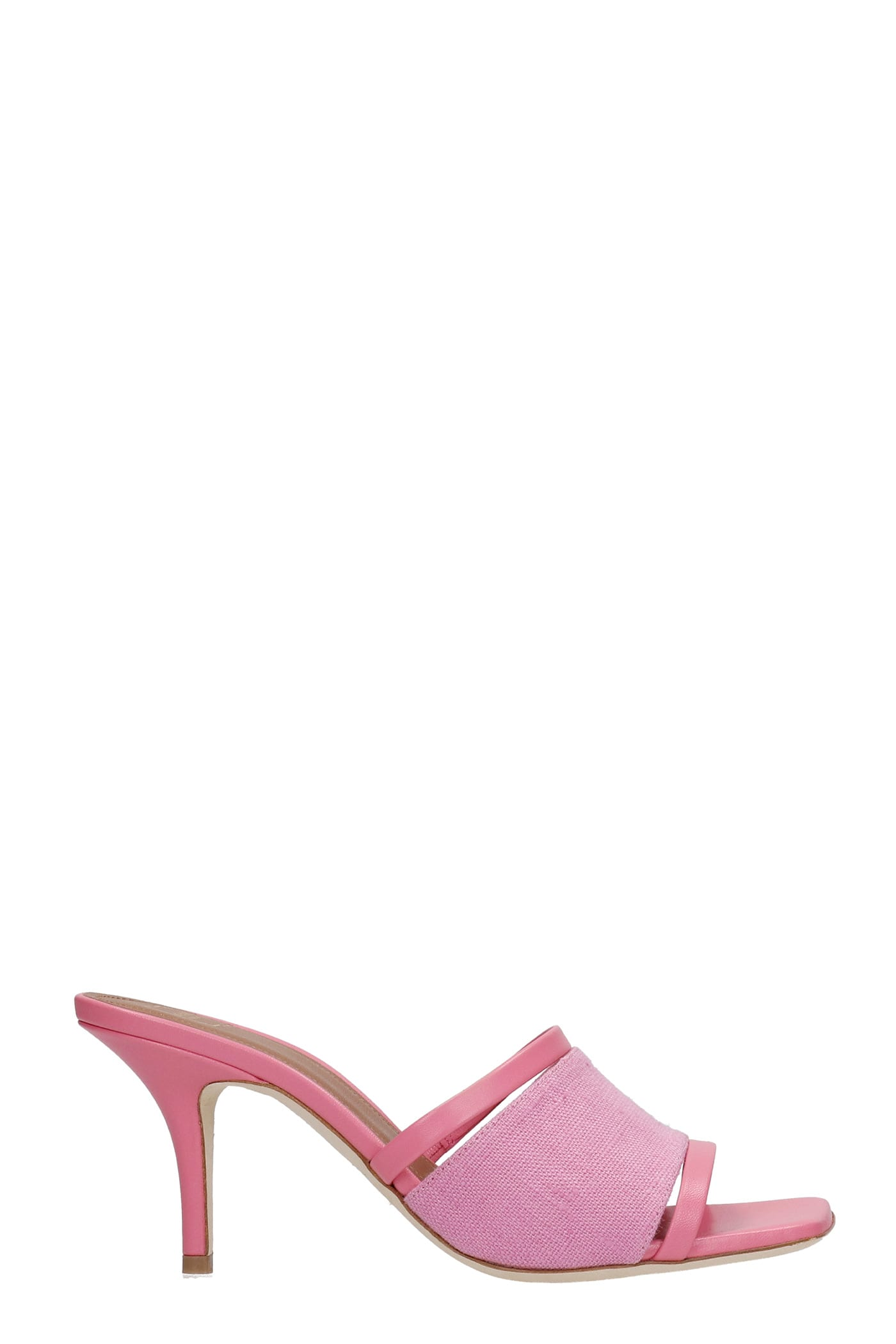 Malone Souliers LANEY SANDALS IN ROSE-PINK LEATHER