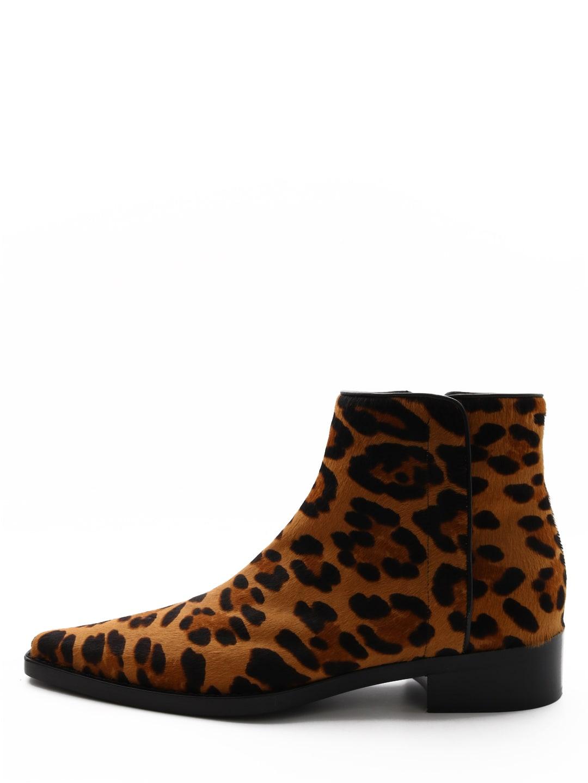 Dolce & Gabbana Animal Print Ankle Boots