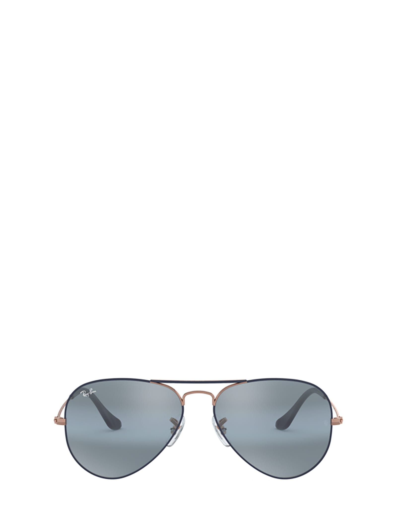 Ray-Ban Ray-ban Rb3025 Matte Dark Blue On Copper Sunglasses