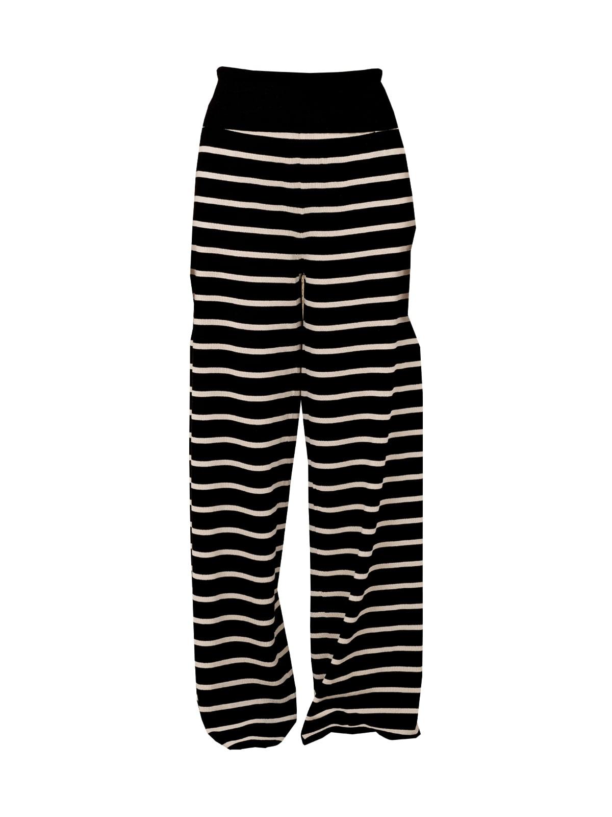 Friged Stripes Wide Leg Pants