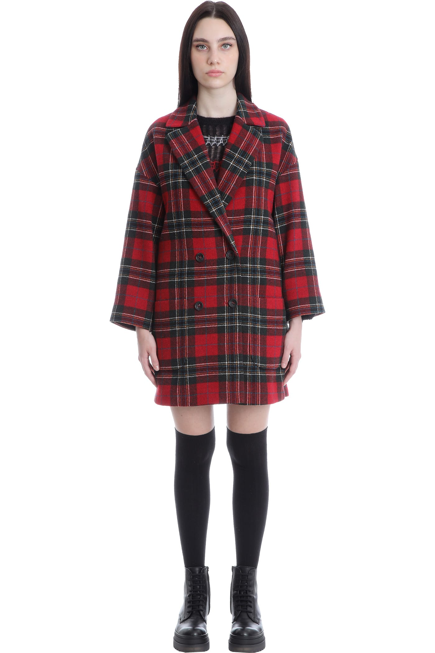 RED Valentino Coat In Red Wool