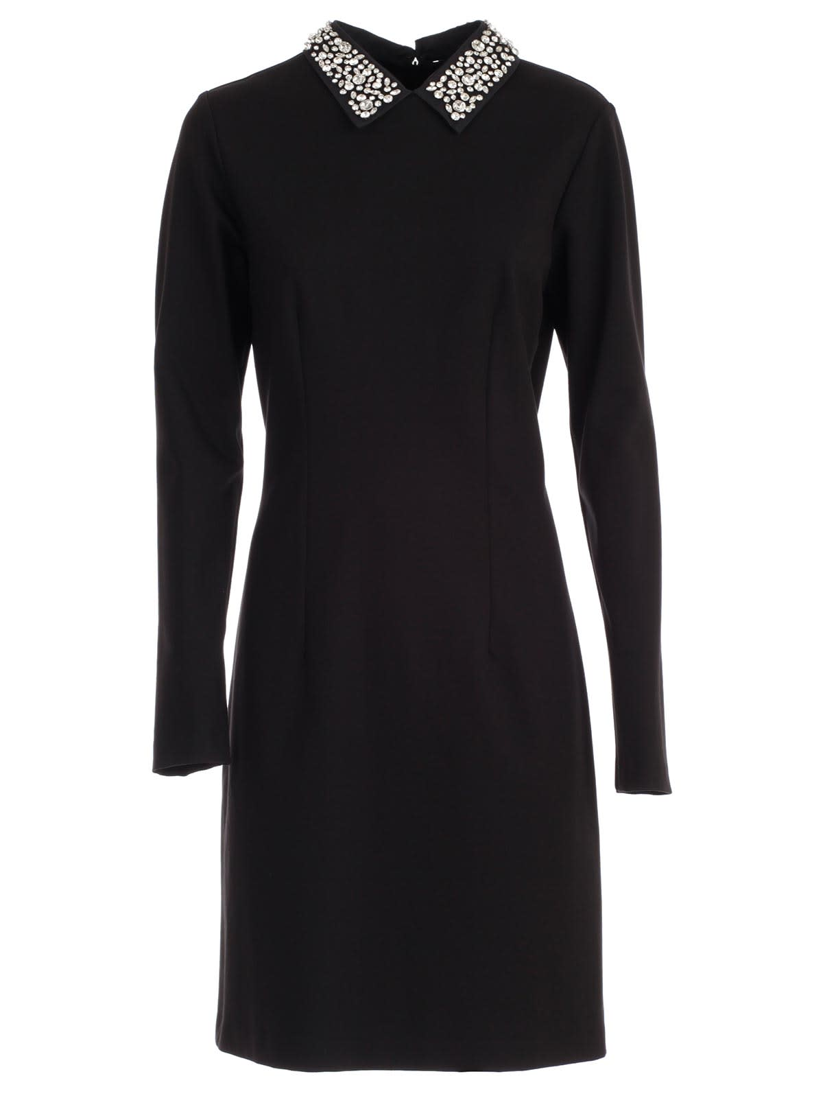 Be Blumarine Dress L & s Pencilswarovsky Collar