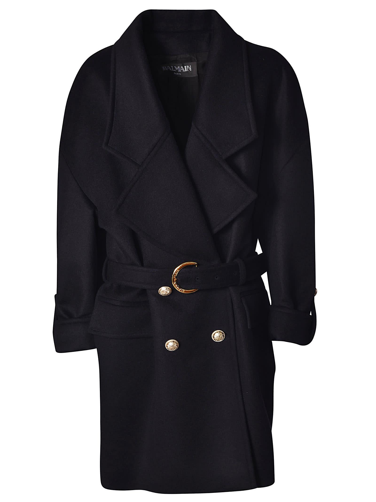 Balmain Belted Coat
