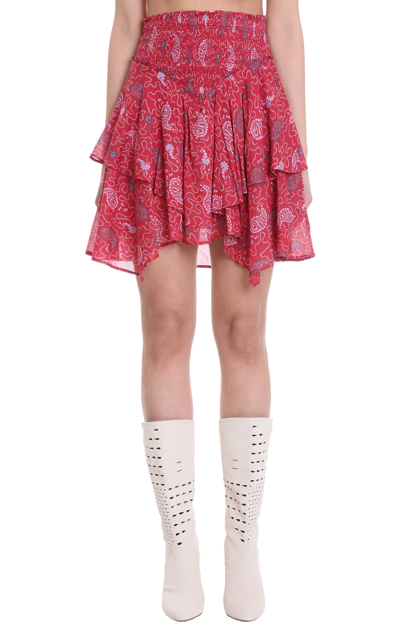 Isabel Marant Étoile Skirts SKIRT IN RED COTTON