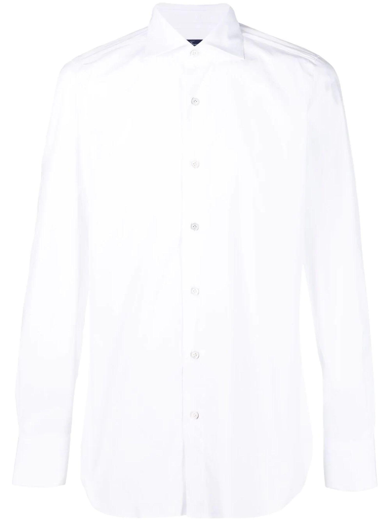White Cotton-blend Shirt