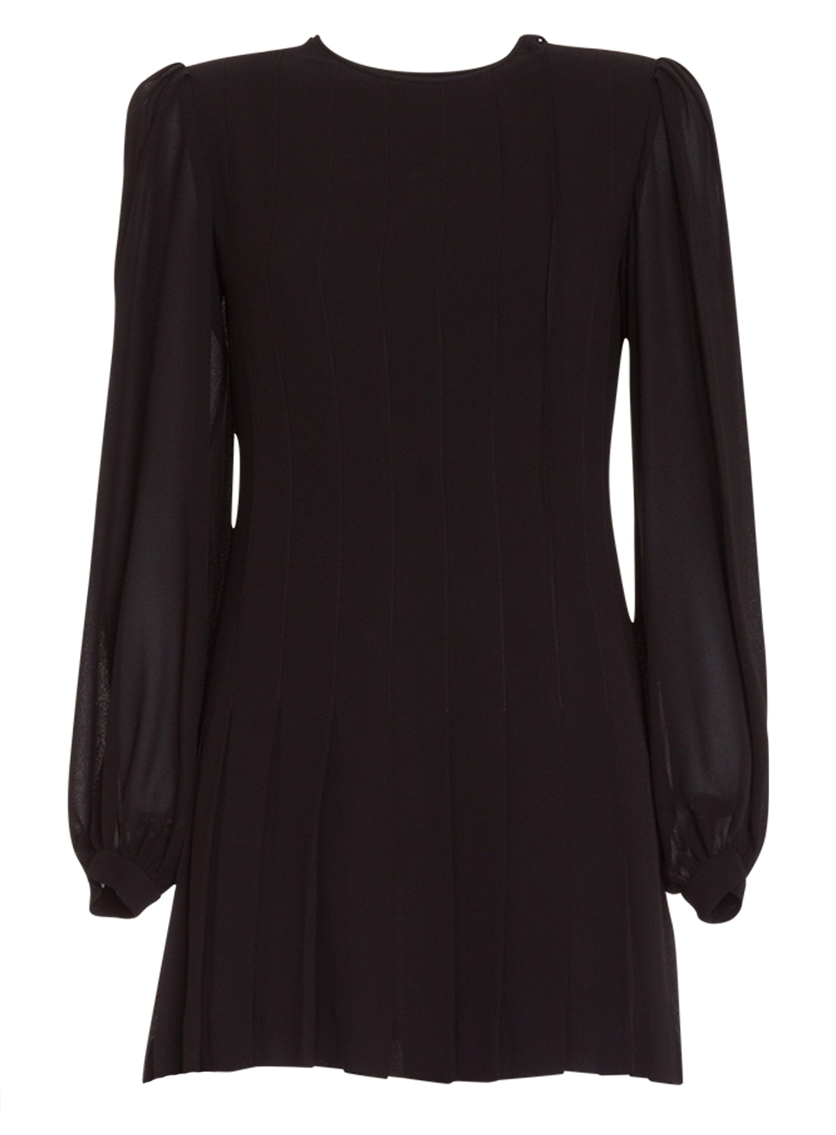 Buy Saint Laurent Long-sleeved Pleated Dress online, shop Saint Laurent with free shipping