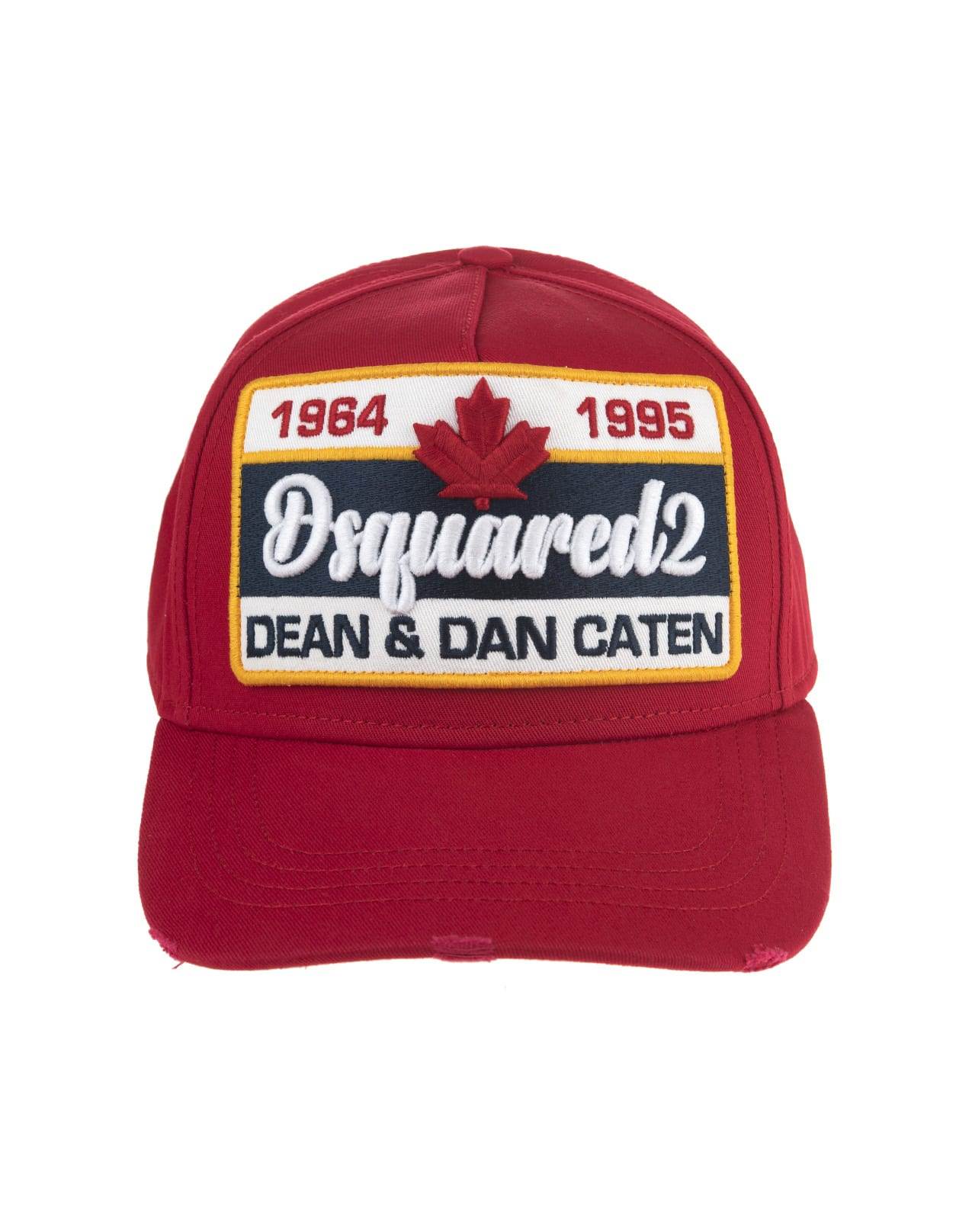 Red Baseball Cap With Dsquared2 1964-1995 Patch