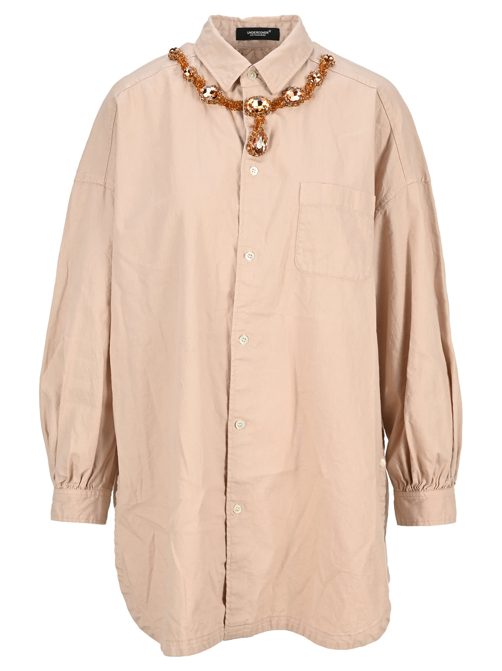 Undercover UNDERCOVER CRYSTAL NECKLACE OVERSHIRT