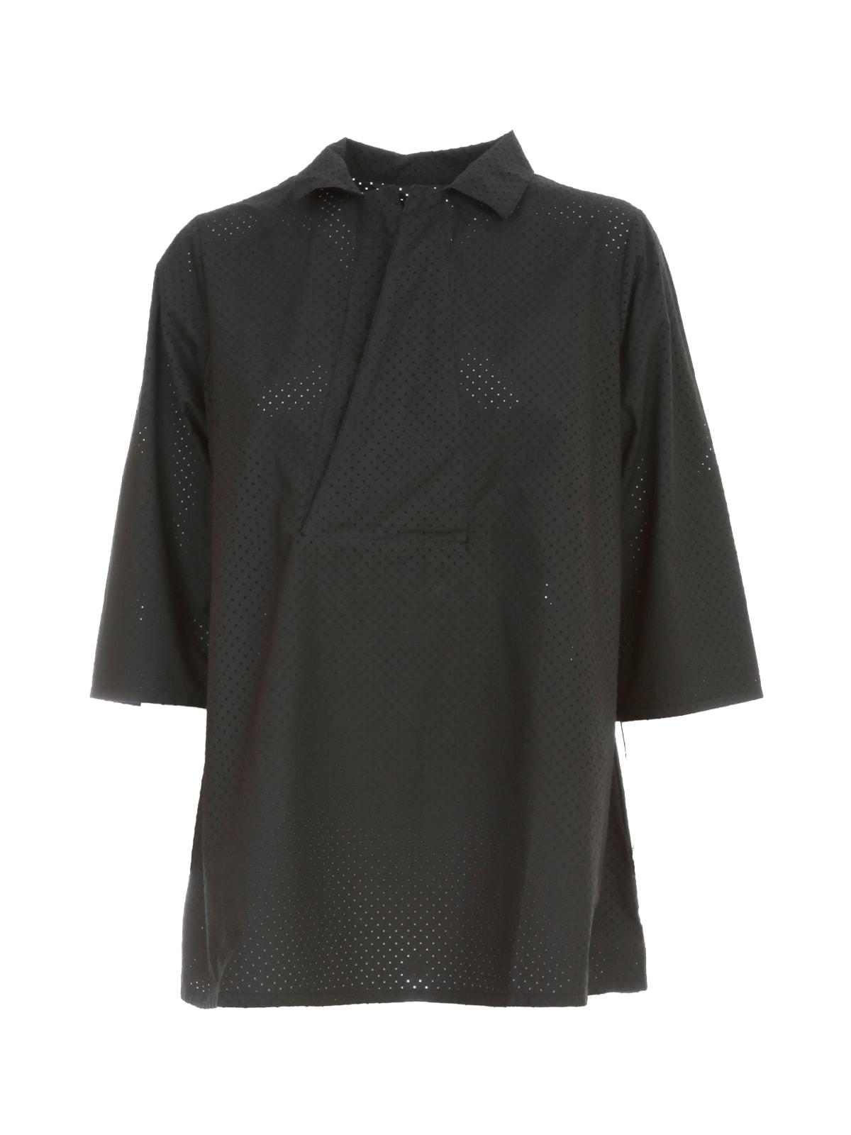 Labo. Art Shirt Revers Neck Drilled Textile