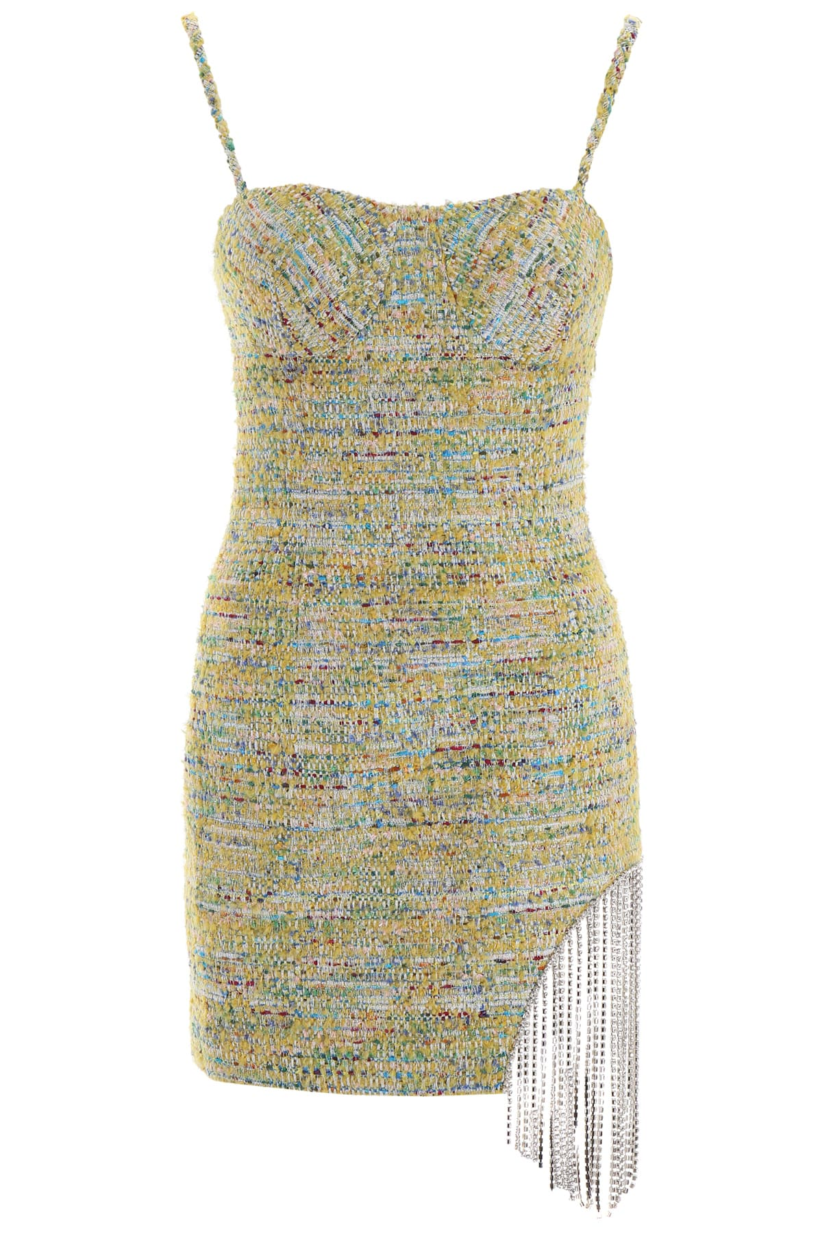 AREA Tweed Dress With Crystals