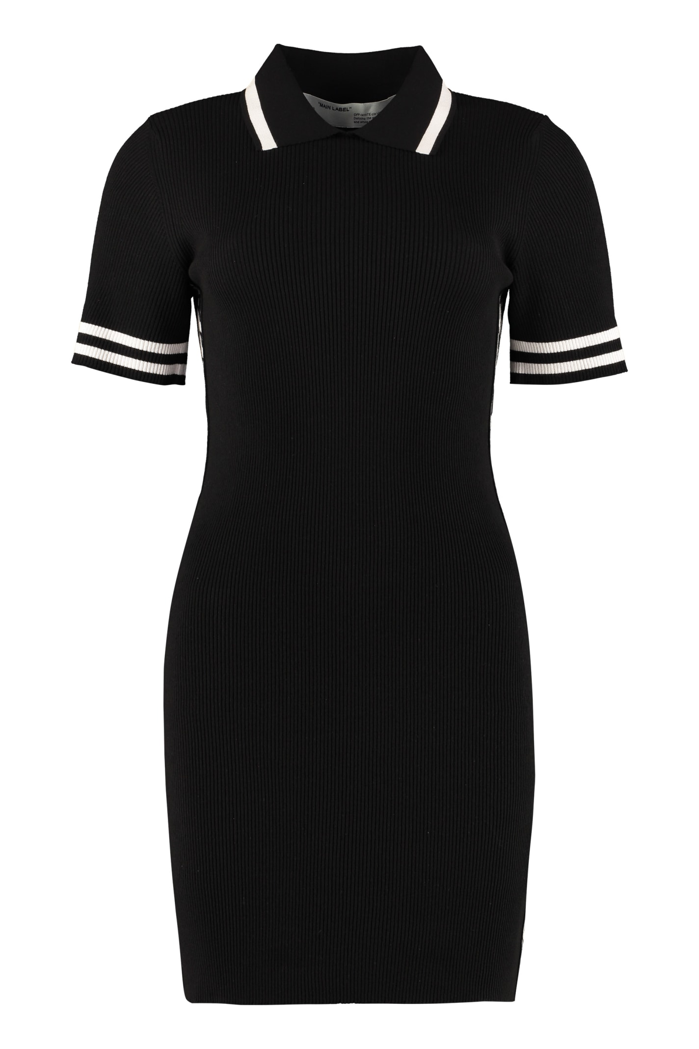 Buy Off-White Industrial Ribbed Knit Dress online, shop Off-White with free shipping