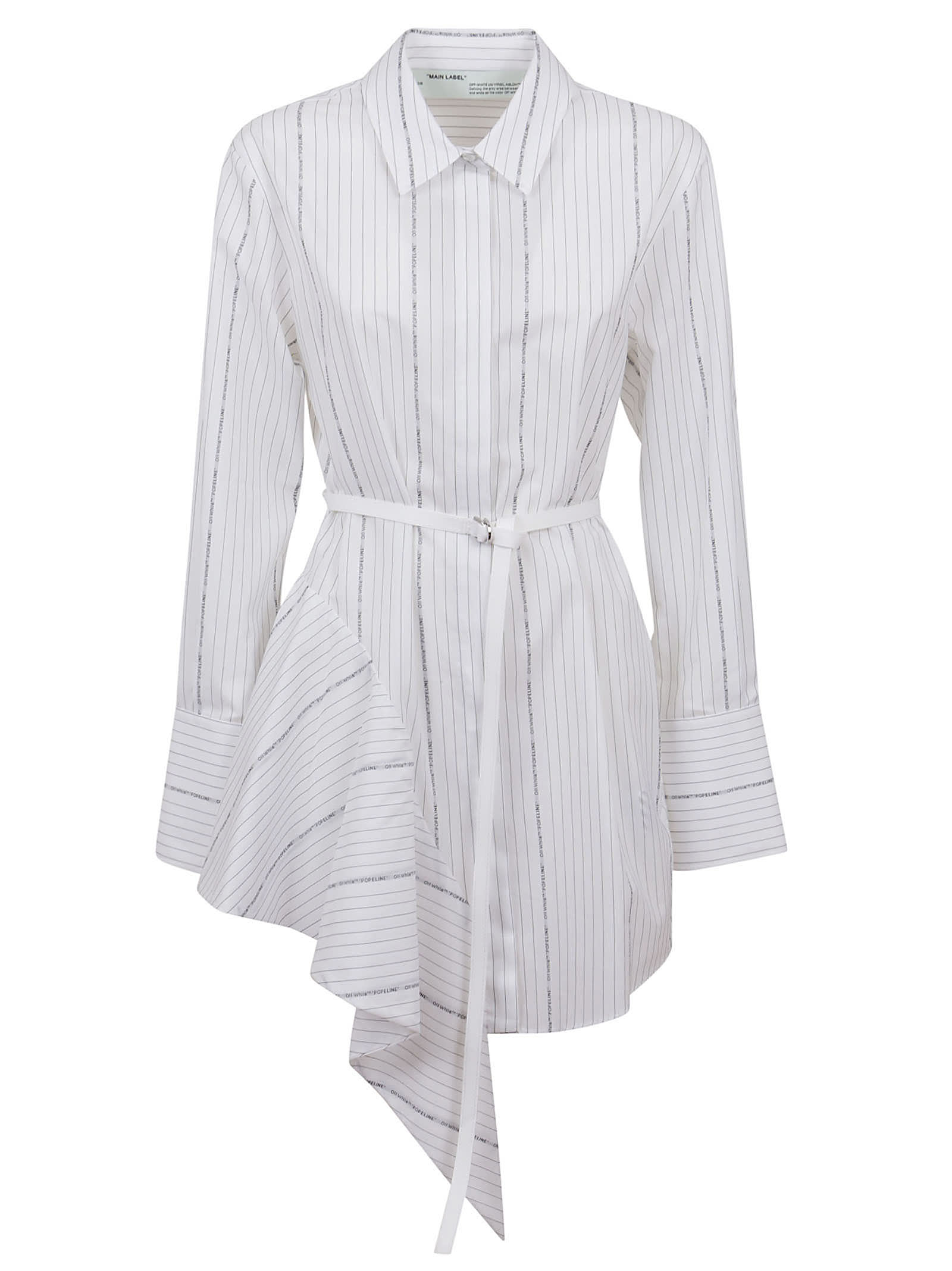 Buy Off-White Asymmetrical Dress online, shop Off-White with free shipping