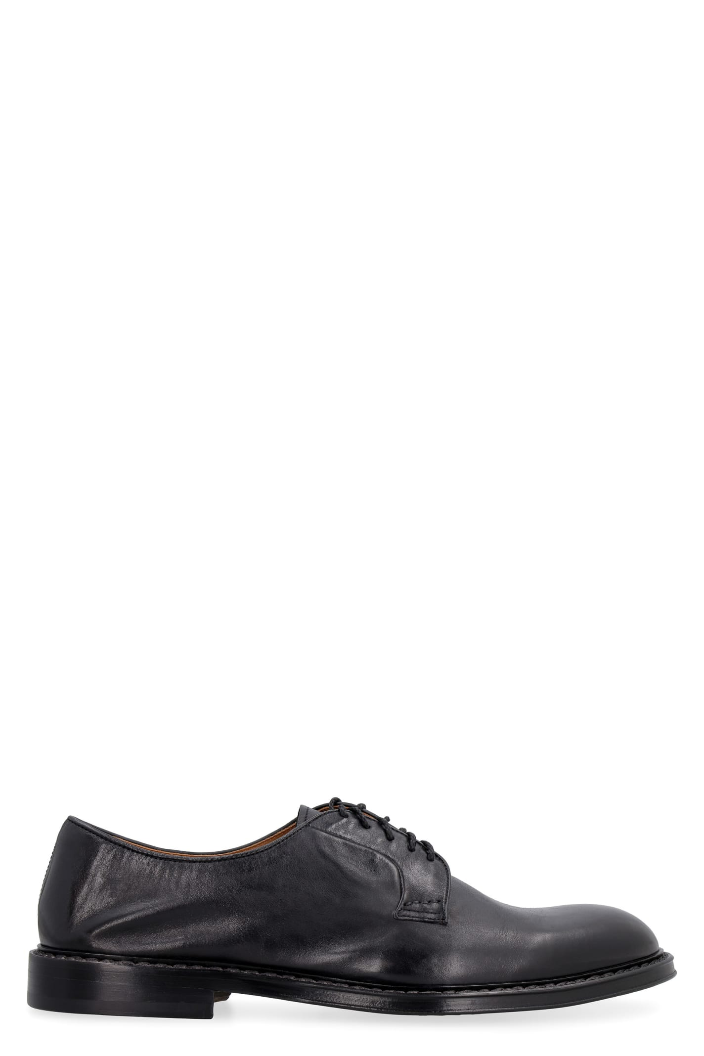 Doucal's LEATHER LACE-UP DERBY SHOES