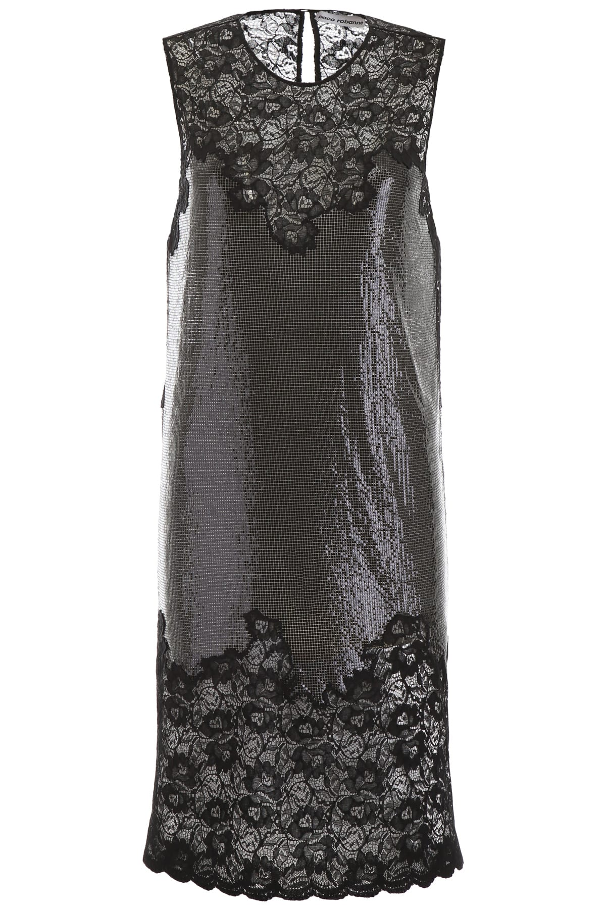 Paco Rabanne Chainmail Dress With Lace
