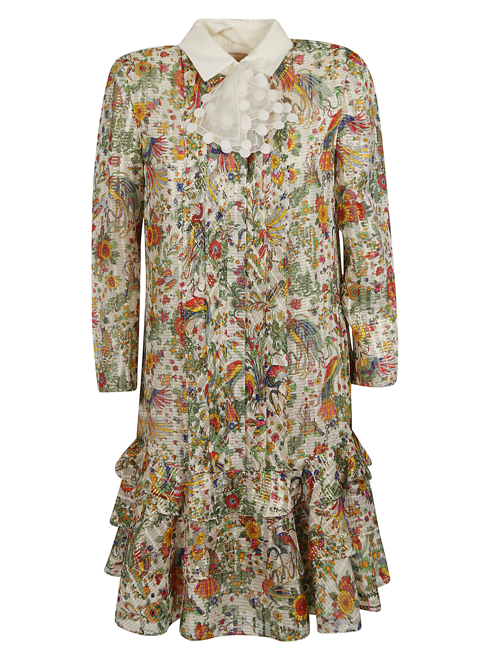 Buy Tory Burch Printed All-over Mid-length Dress online, shop Tory Burch with free shipping