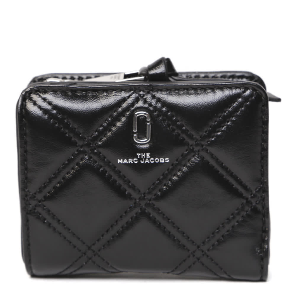 Marc Jacobs The Softshot Mini Black Quilted Leather Wallet