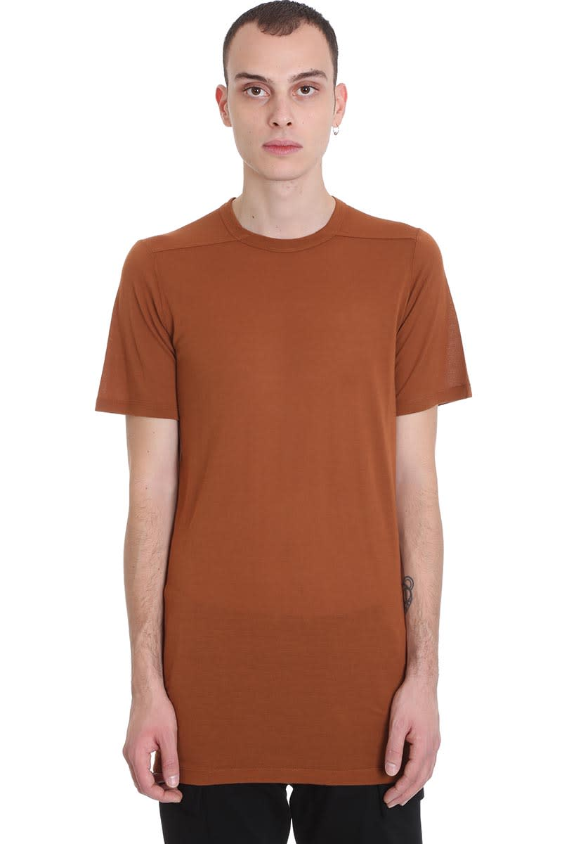 Rick Owens Level T T-shirt In Red Viscose