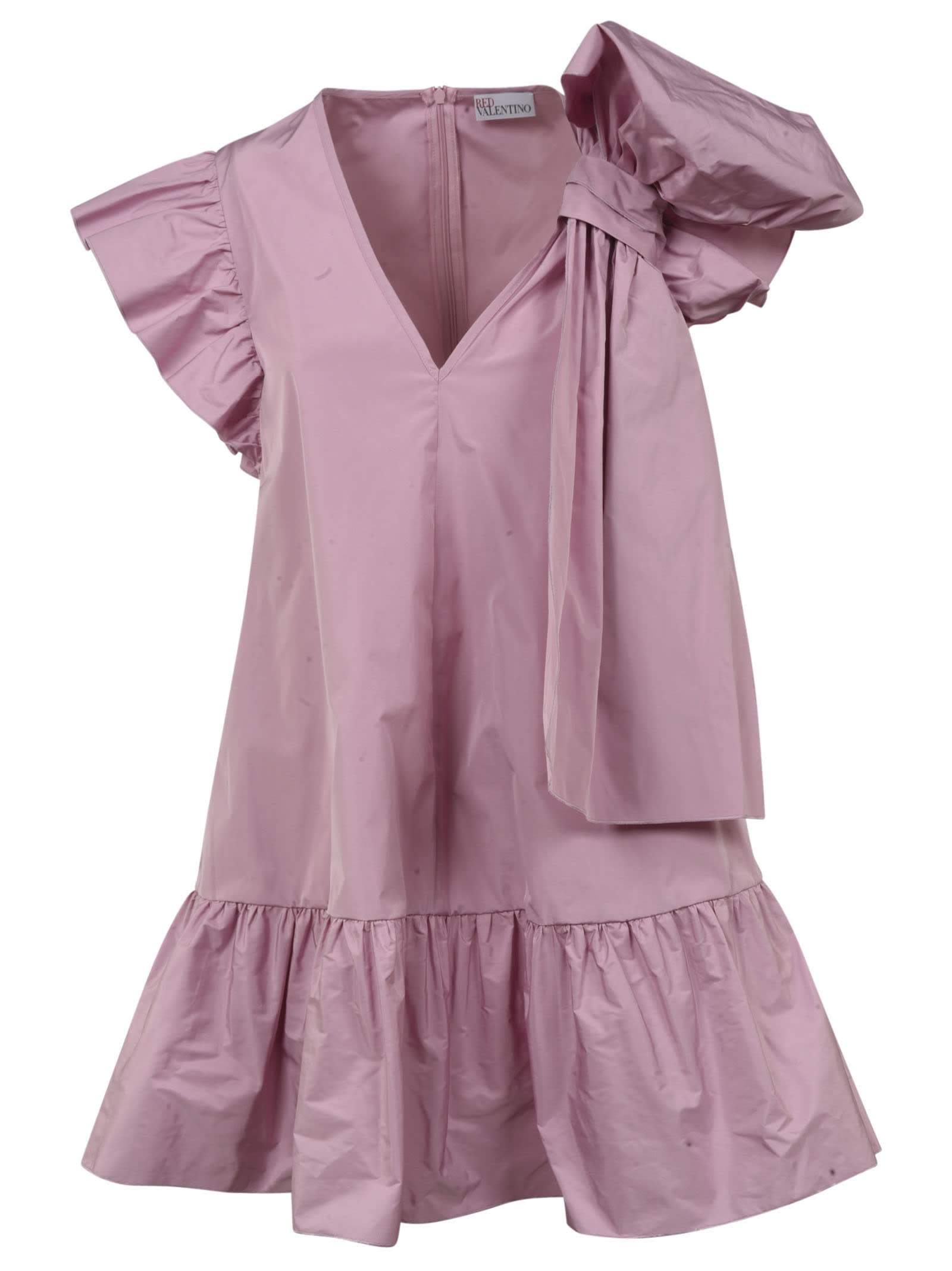 Buy RED Valentino Bow Detail V-neck Short Dress online, shop RED Valentino with free shipping