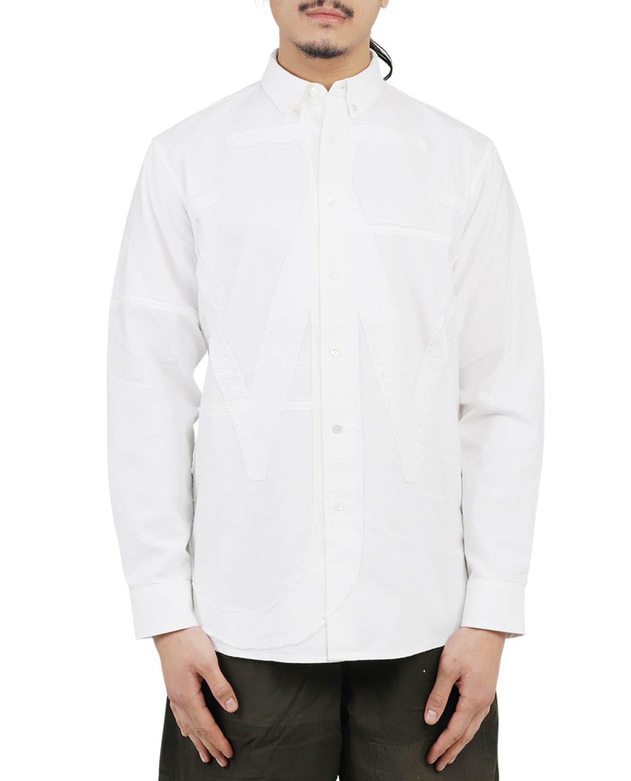 Jw Anderson Downs JW ANDERSON WHITE ANCHOR SHIRT