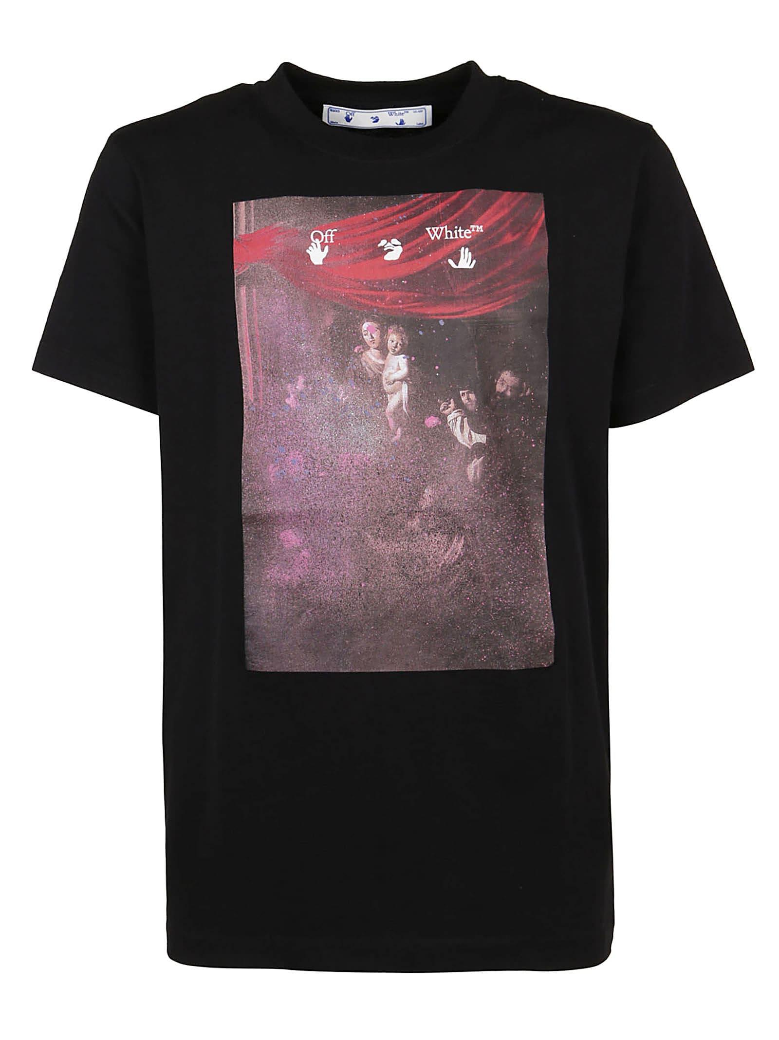Off-White T-shirts T-SHIRT SPRAYED CARAVAGG SLIM