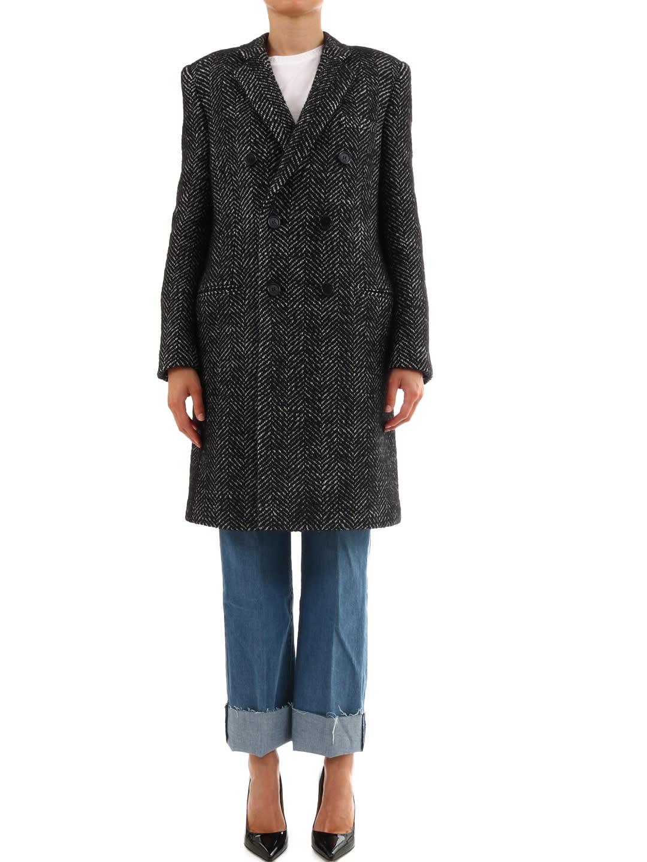 Photo of  Saint Laurent Wool Coat- shop Saint Laurent jackets online sales