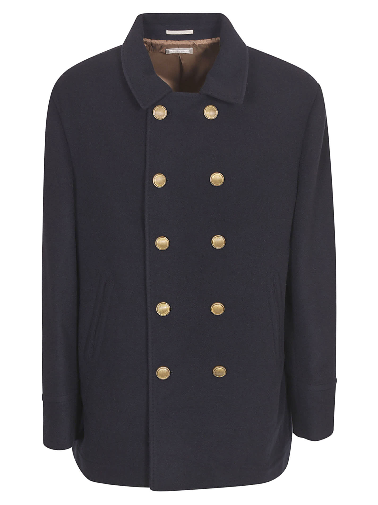 Brunello Cucinelli Double-breasted Jacket In Blue
