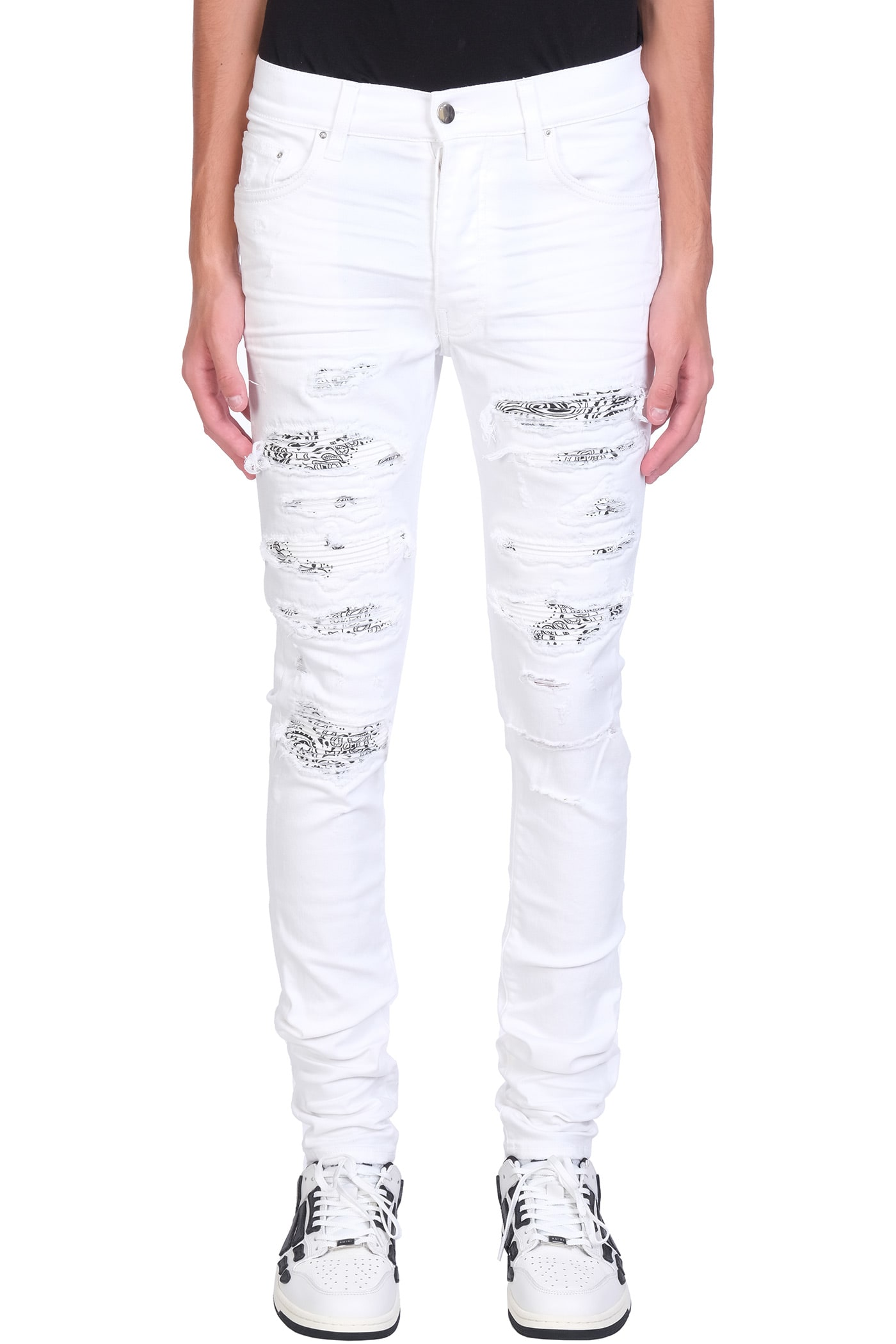 AMIRI Jeans In White Denim