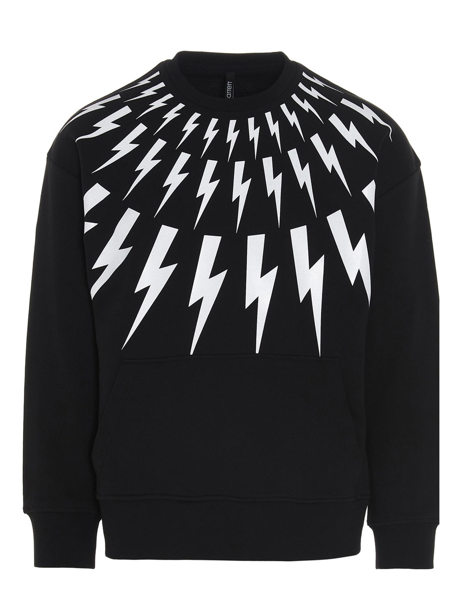 Neil Barrett Sweatshirts THUNDERBOLT SWEATSHIRT