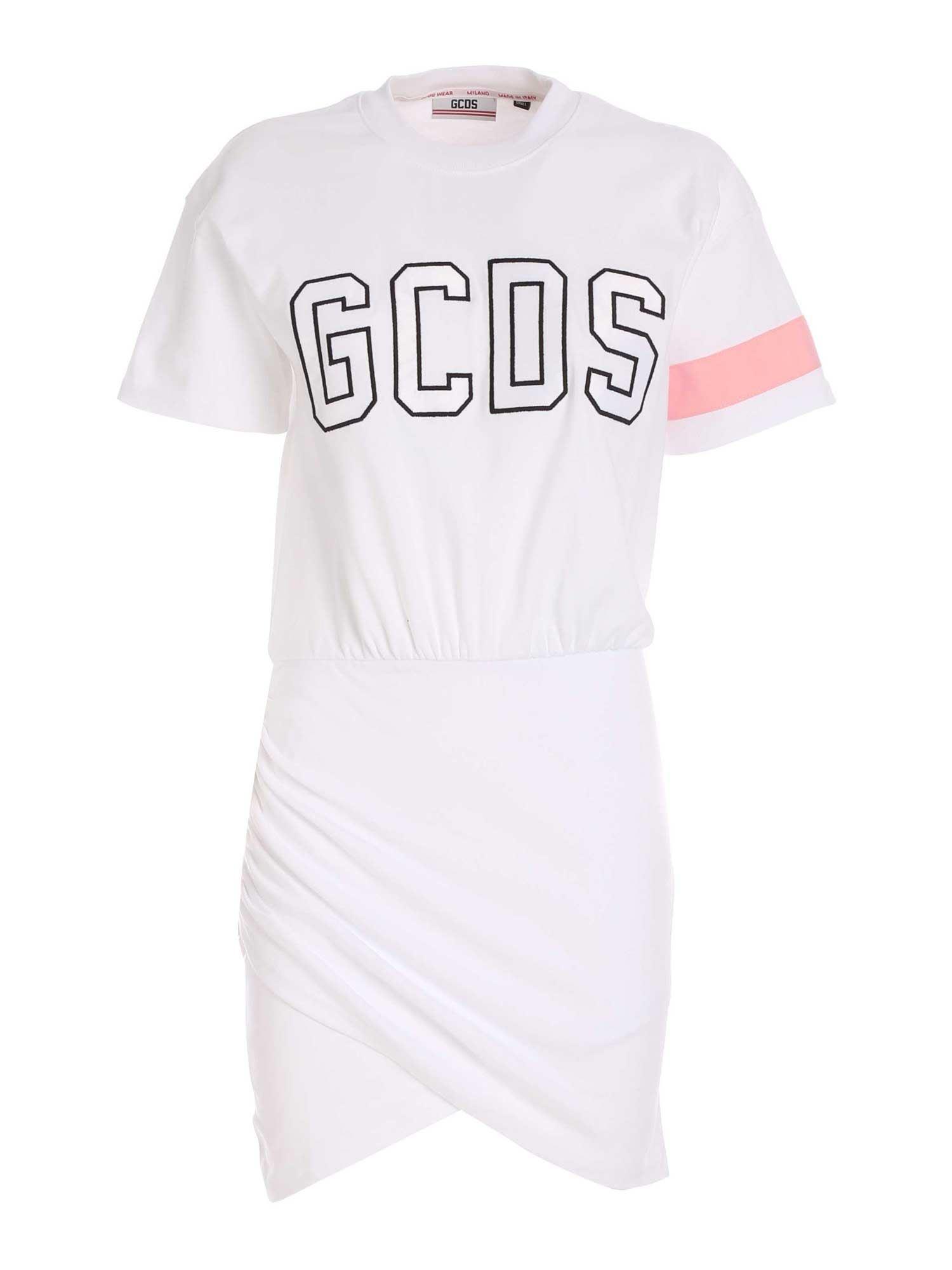 Gcds Cottons GCDS WRAPPED LOGO DRESS