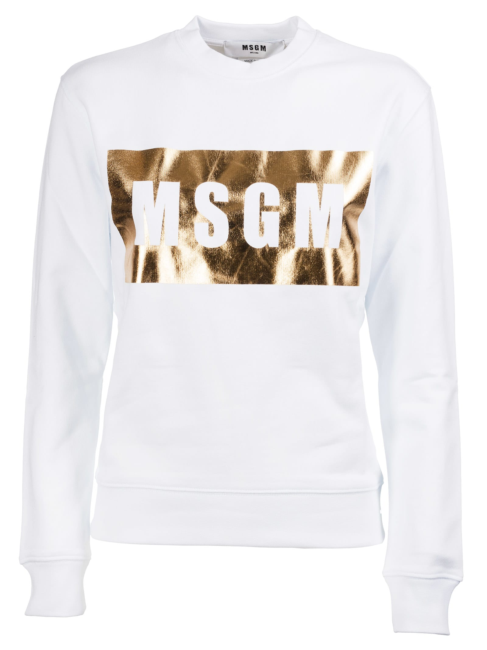 Msgm Clothing METALLIC LOGO SWEATSHIRT