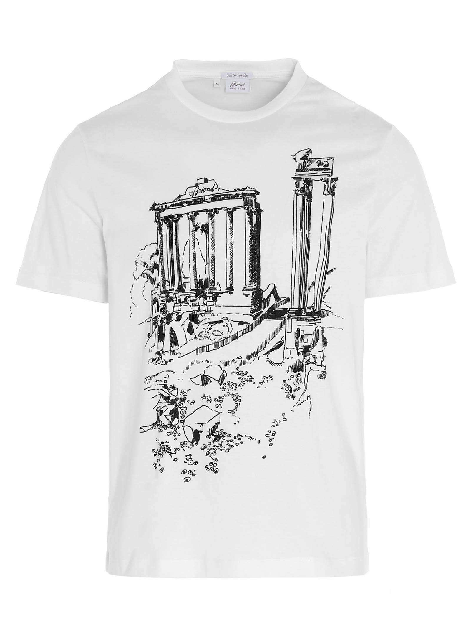 Brioni Cottons ANCIENT ROME T-SHIRT