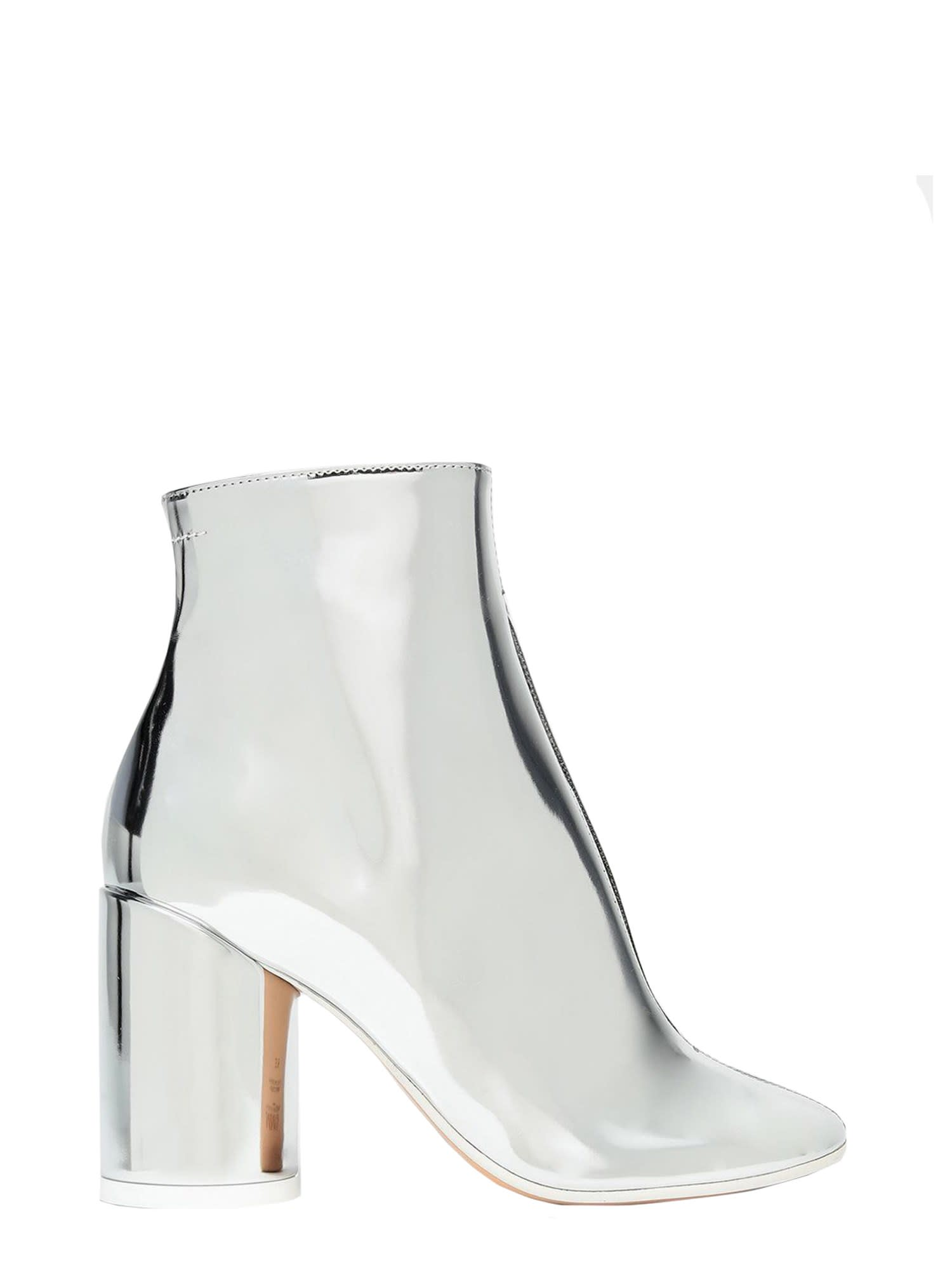 Mm6 Maison Margiela MIRRORED BOOTS WITH 6 HEEL