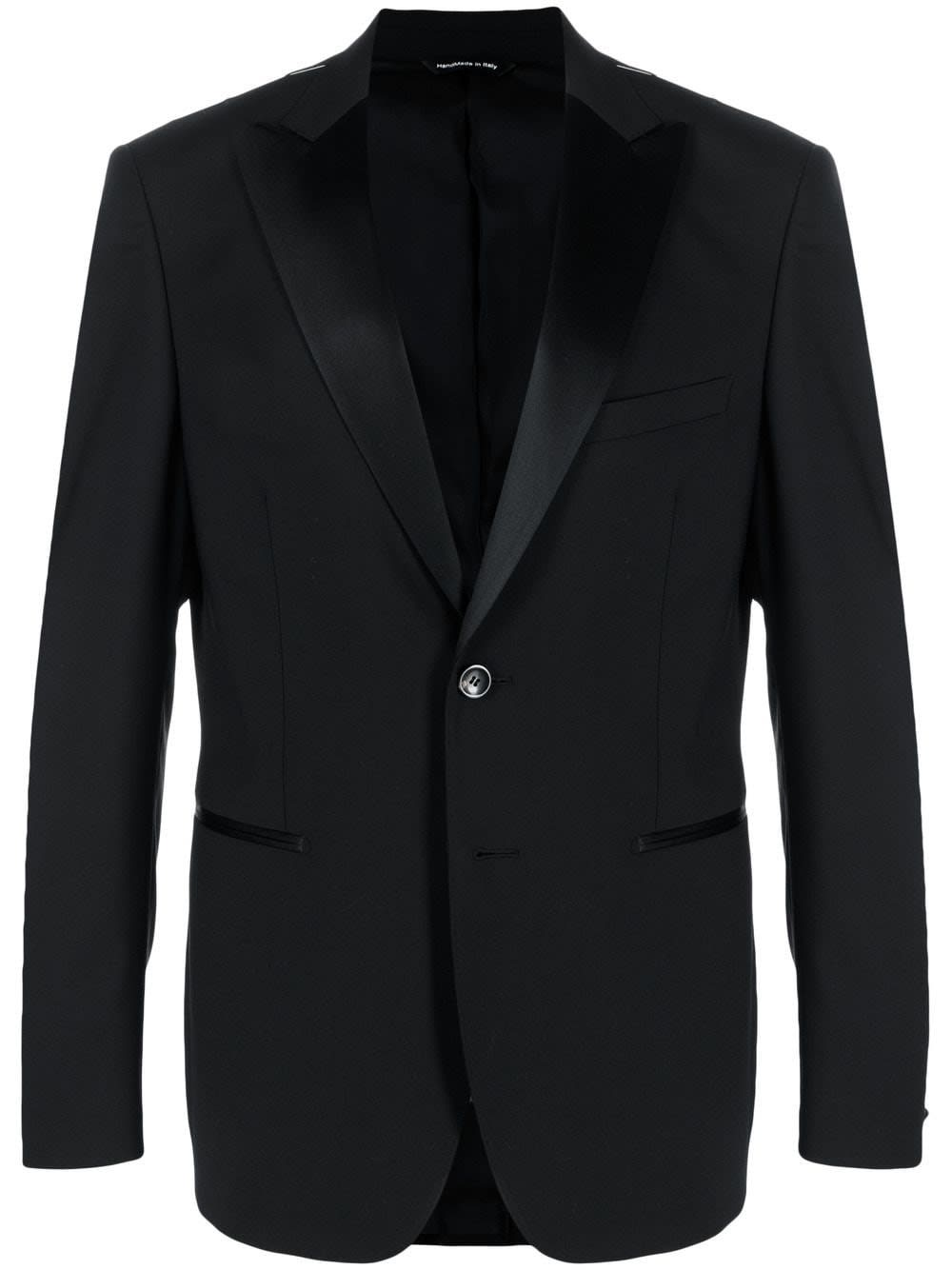 Tonello SINGLE-BREASTED JACKET WITH SATIN INSERTS