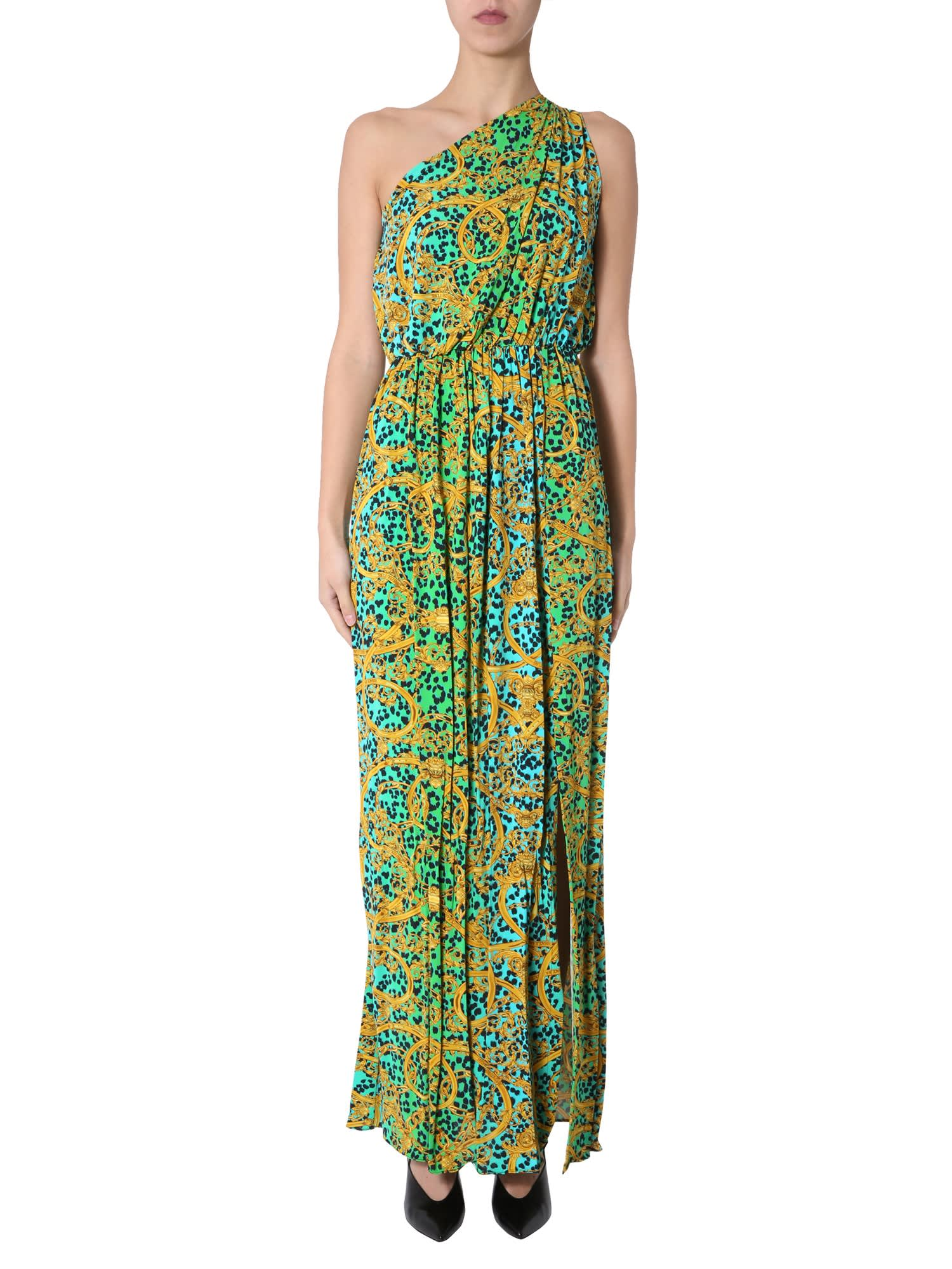 Buy Versace Jeans Couture One Shoulder Dress online, shop Versace Jeans Couture with free shipping