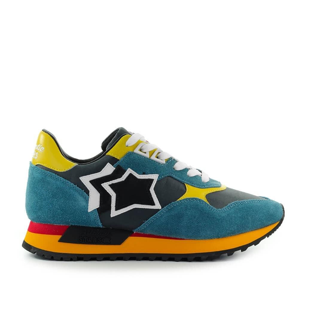 Draco Petrol Blue Yellow Sneaker