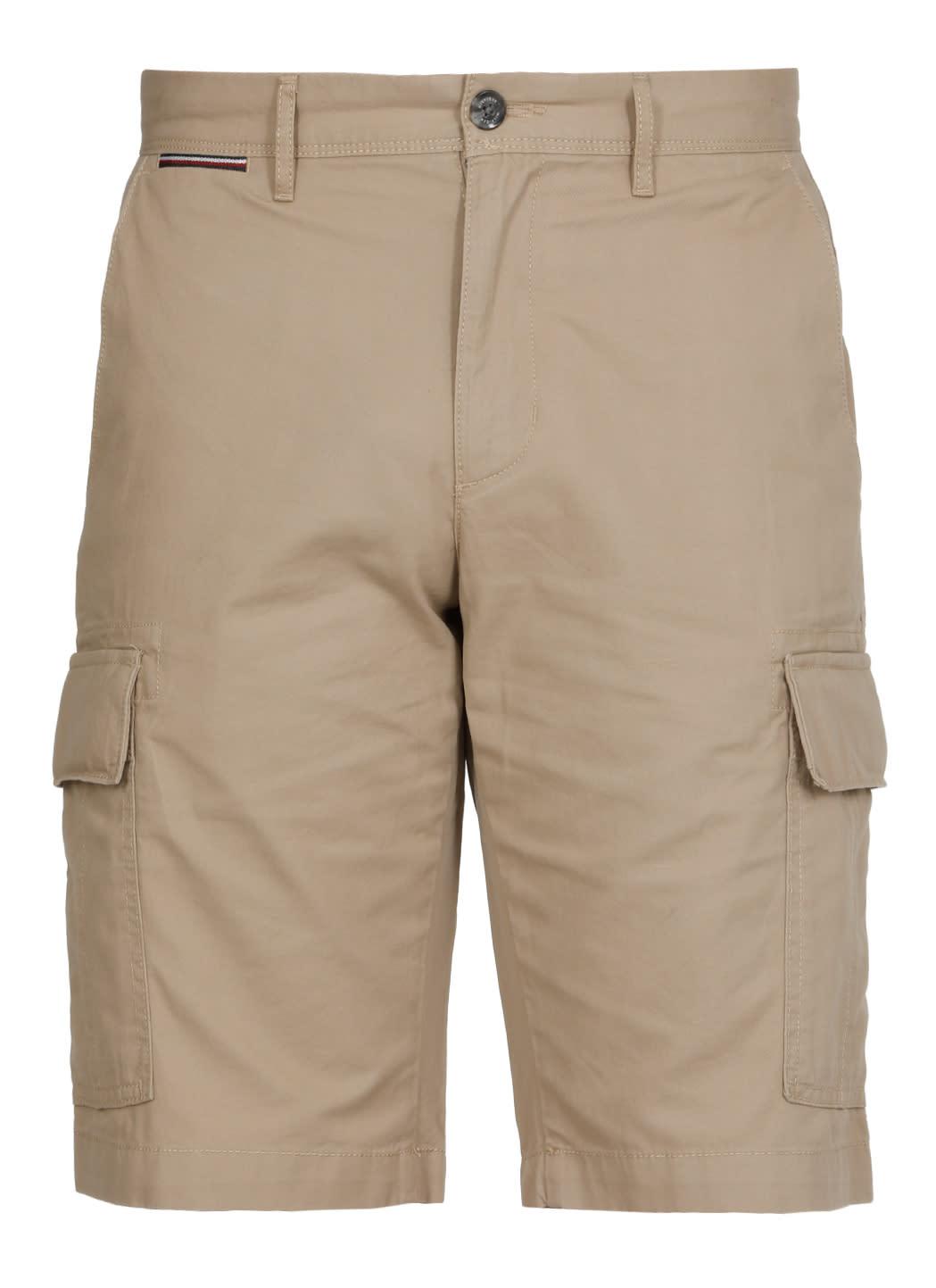 Tommy Hilfiger Cotton Shorts In Beige
