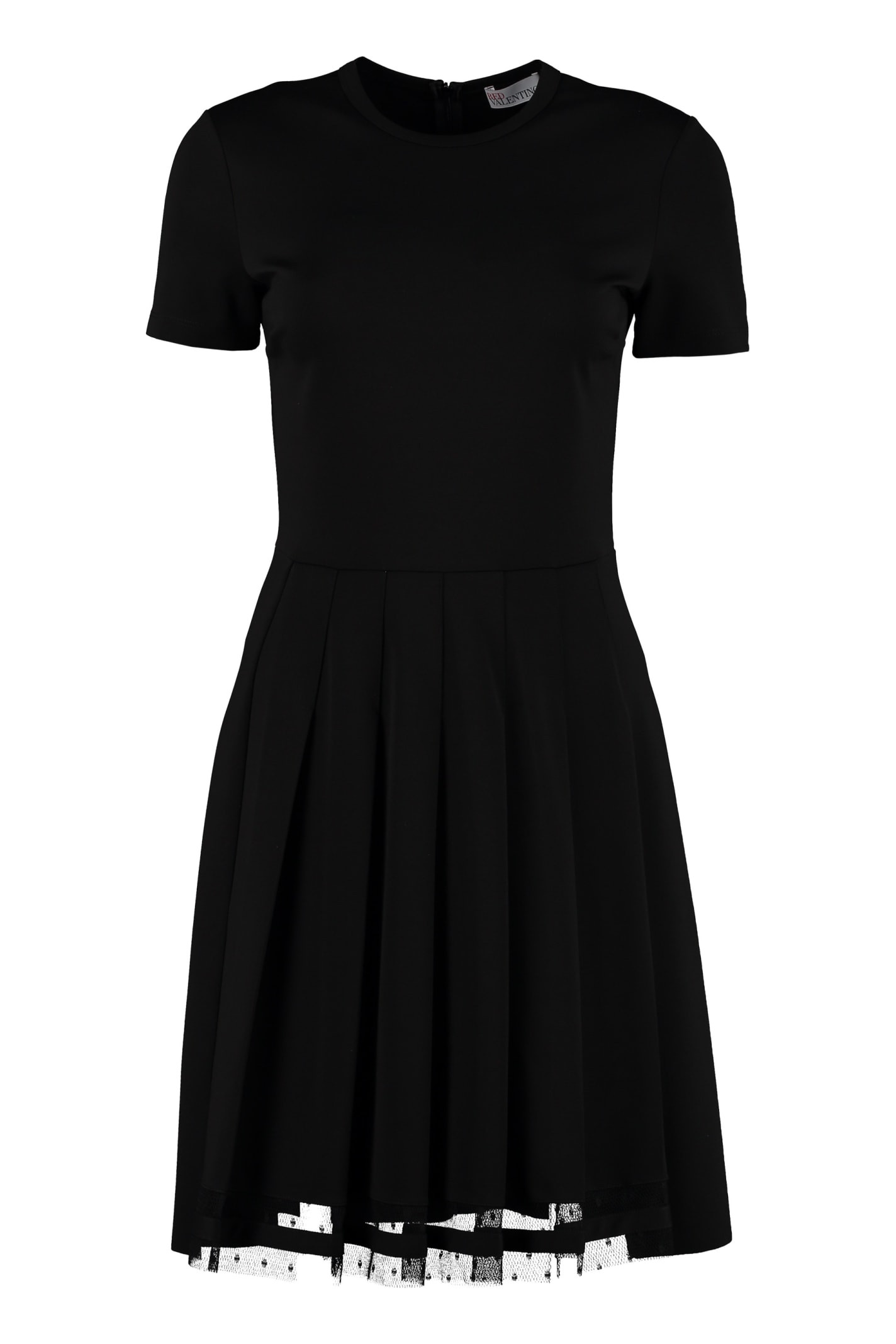 RED Valentino Pleated Skirt Dress