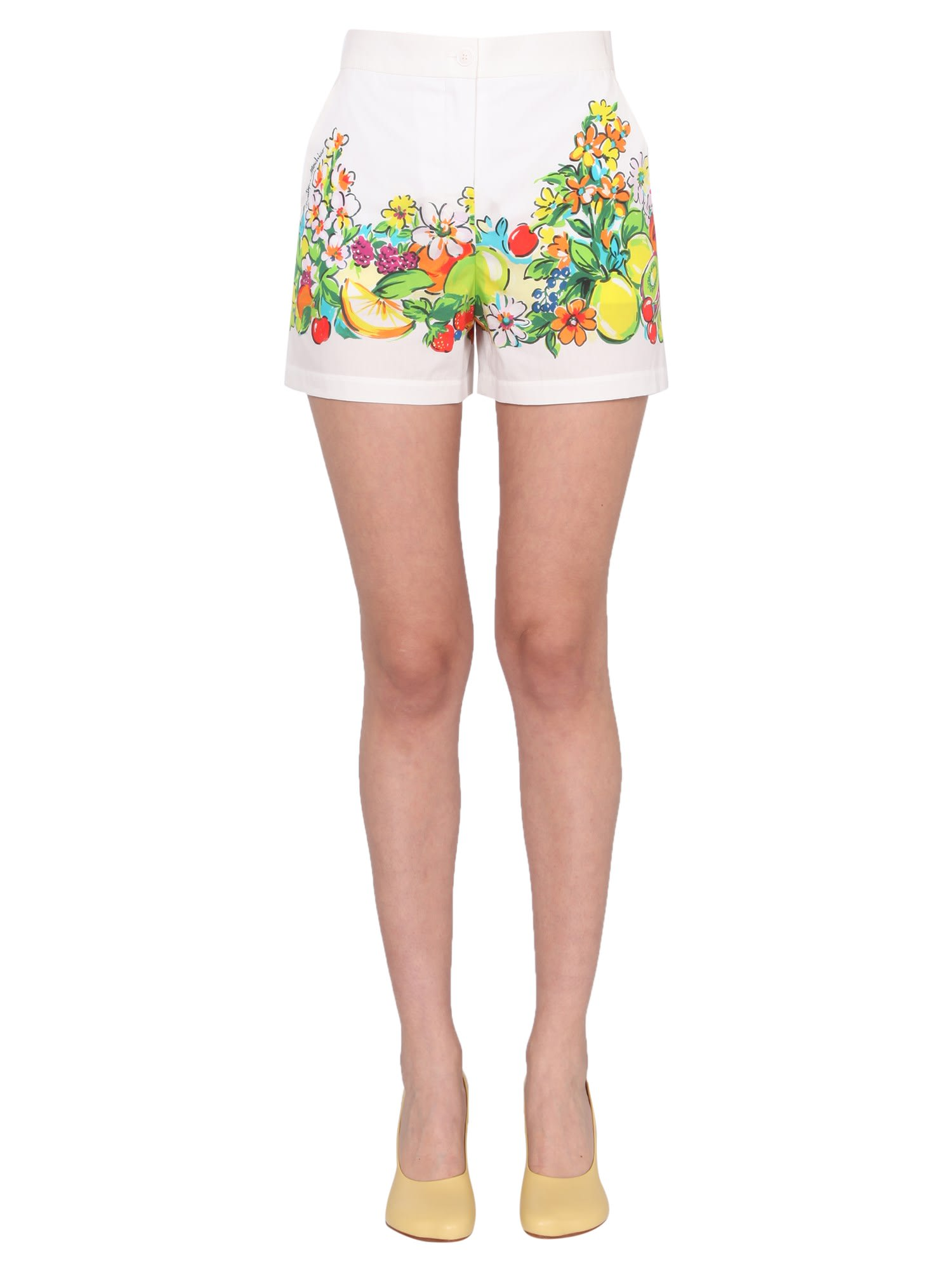 Boutique Moschino Shorts FLOWER AND FRUIT PRINT SHORTS