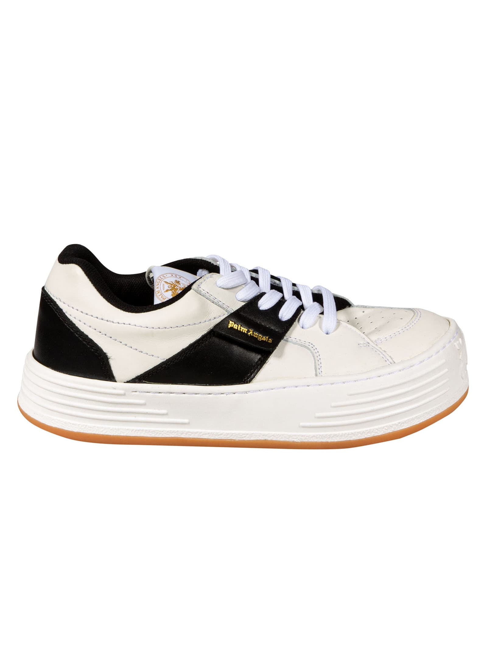 Palm Angels LEATHER SNOW LOW TOP SNEAKERS