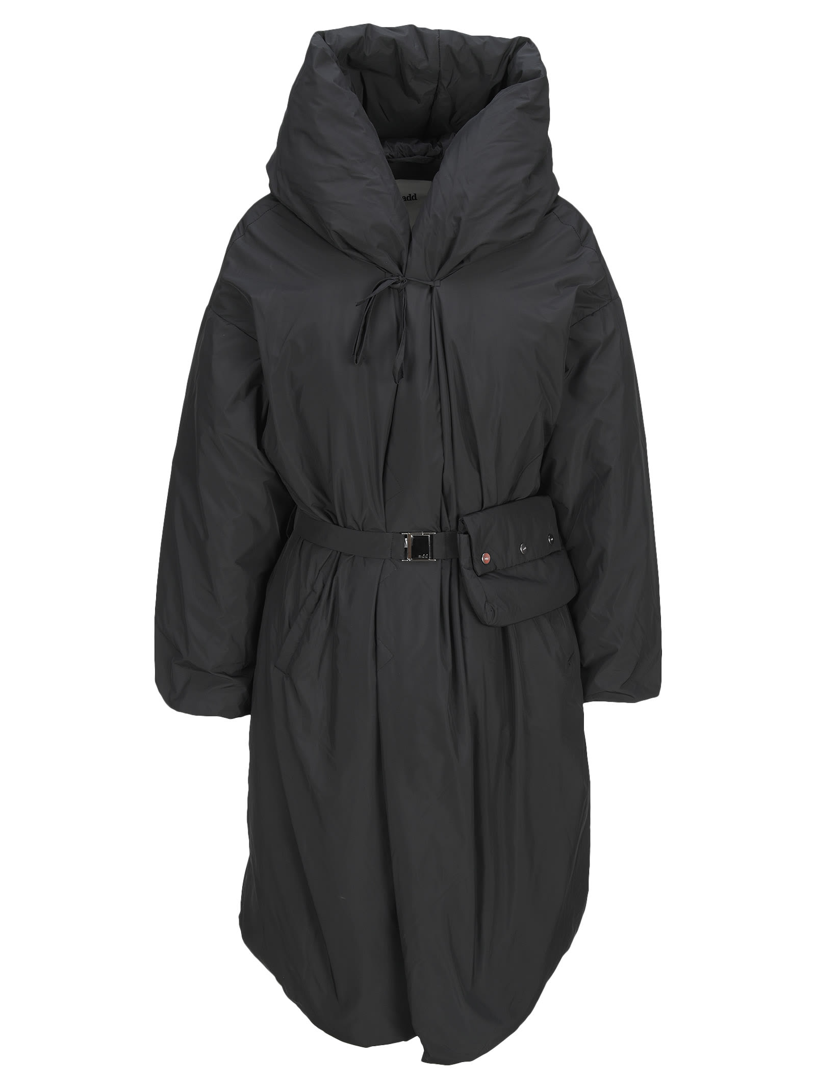 Hooded Down Coat With Beltbag